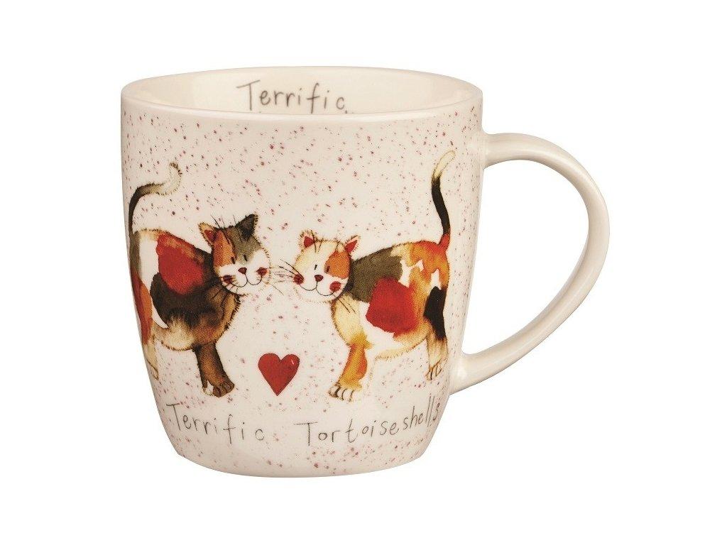 Terrific Tortoiseshelles 0,4 l - porcelánový hrnek s motivem koček
