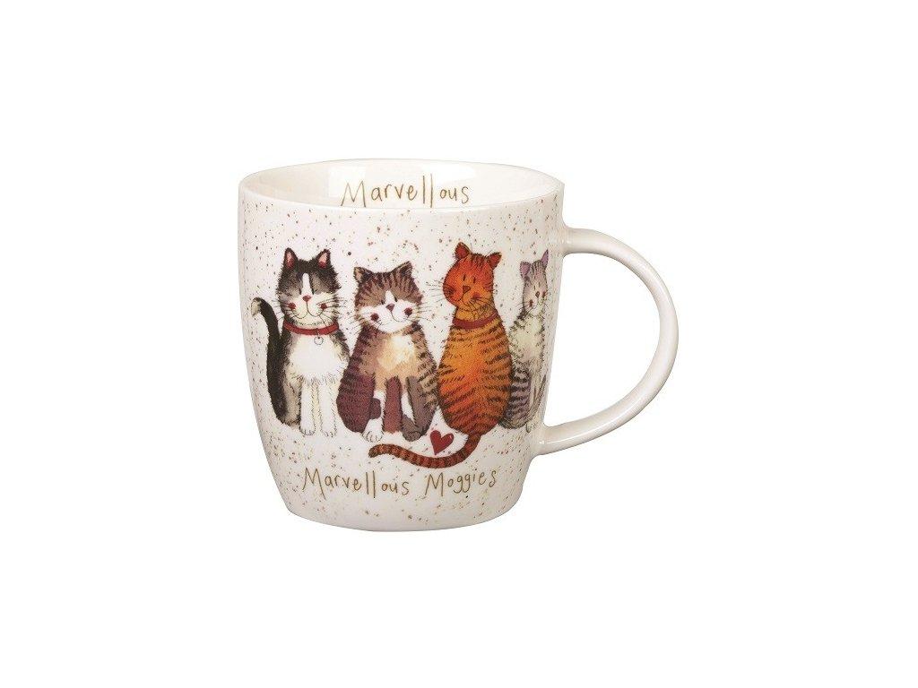 Marvellous moggies 0,4 l - porcelánový hrnek s motivem koček