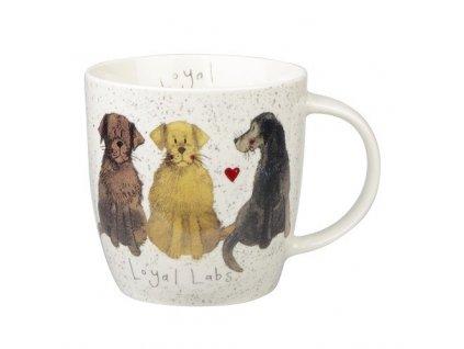 Labrador, Loyal labs - porcelánový hrnek s motivem psa, Alex Clark, 400 ml