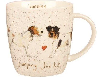 Jack Russell teriér 0,4 l - porcelánový hrnek s motivem psů